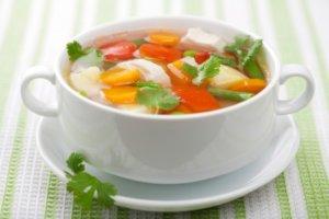 Овощные супы очень полезны