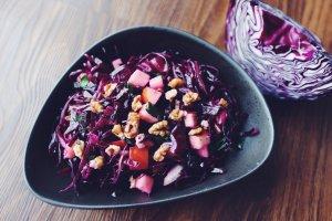 Салат из фиолетовой капусты