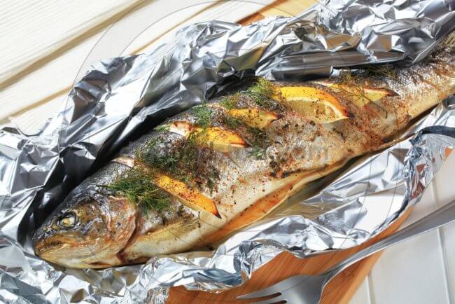 Приготовление рыбы в фольге