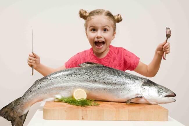 Рыба в рационе детей