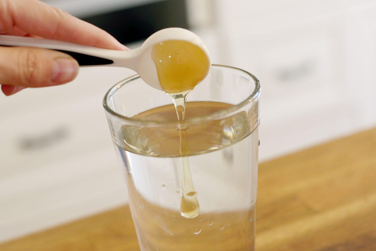 Вода с уксусом и медом