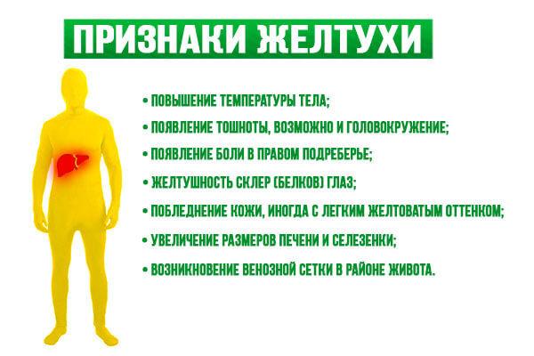 Апризнаки желтухи