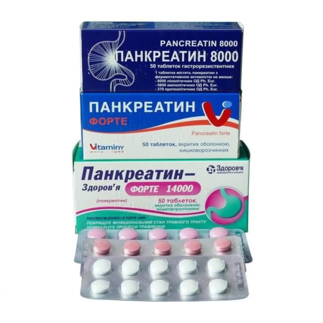 Виды Панкреатина