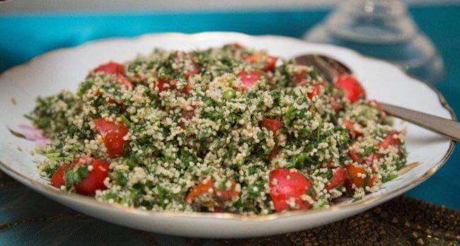 Салат с кус кусом