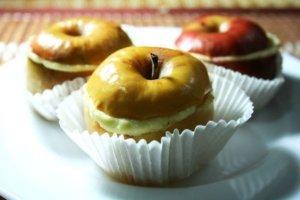 Яблочные гнезда с творожной начинкой