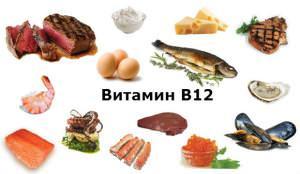 Находим витамин В12 в продуктах питания