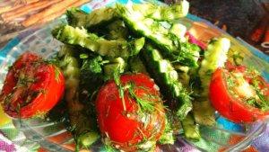 Калорийность овощного салата