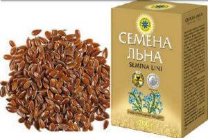 Семена льна в коробке