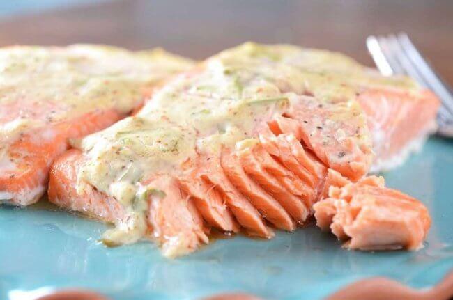 Блюдо с красной рыбой